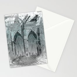 City Art Brooklyn Bridge in Detail | turquoise Stationery Cards