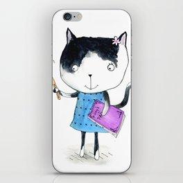 Creative Mono Cat  iPhone Skin
