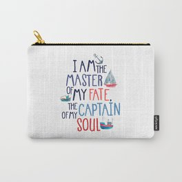 Nautical Typography Carry-All Pouch