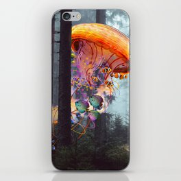 ElectricJellyfish Worlds in a Forest iPhone Skin