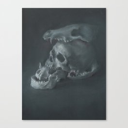 STACKED SKULLS Canvas Print