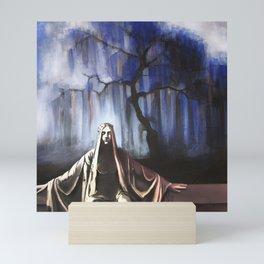 L'albero blu / The blue tree Mini Art Print