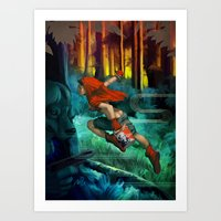 red hood Art Prints featuring Red Hood by Artgerm™