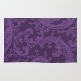 Retro Chic Swirl Royal Lilac Rug