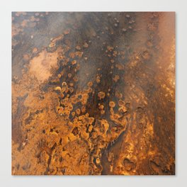 Colors And Texture Of A Hot Spring Canvas Print