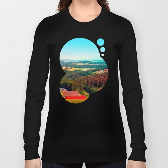 Spring, hot sun, and lots of scenery Long Sleeve T-shirt