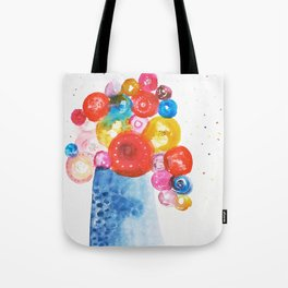Abstract Flowers in Vase Tote Bag