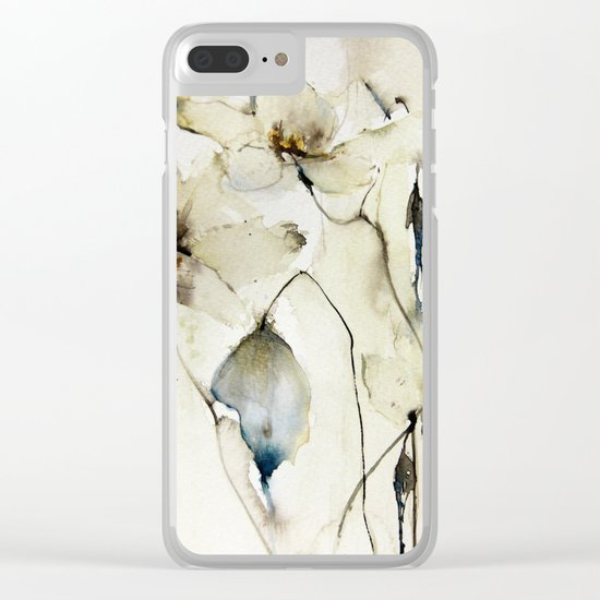white floral Clear iPhone Case