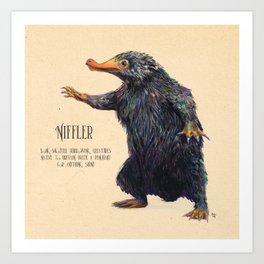 Niffler art Fantastic Beasts Art Print