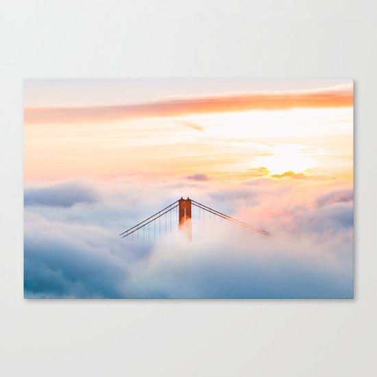 Golden Gate Bridge at Sunrise from Hawk Hill - San Francisco, California Canvas Print