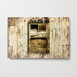 Window in a tin wall Metal Print
