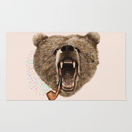 Angry Bear Rug