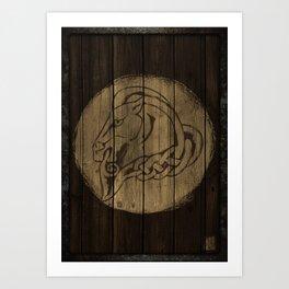 Horse Shield Art Print