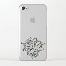 shark party jade Clear iPhone Case