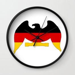 German Flag - Eagle Wall Clock