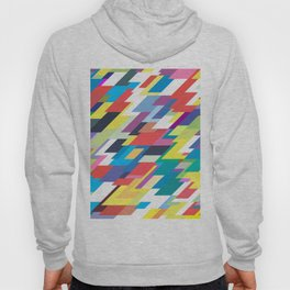 Layers Triangle Geometric Pattern Hoody