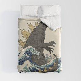 The Great Monster Off Kanagawa Duvet Cover