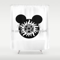 supernatural Shower Curtains featuring Supernatural by kltj11