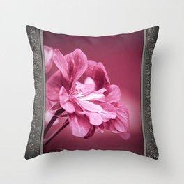 Ivy Geranium named Contessa Purple Bicolor Throw Pillow