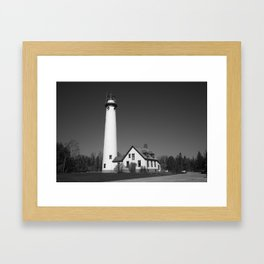 Lighthouse - Presque Isle, Michigan 2010 Framed Art Print