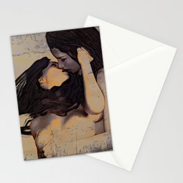 Minas - Female Kiss Stationery Cards