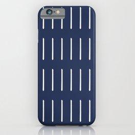 Mudcloth (Navy) iPhone Case