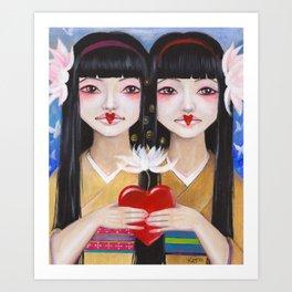 Ren Cho and Shinobu Art Print