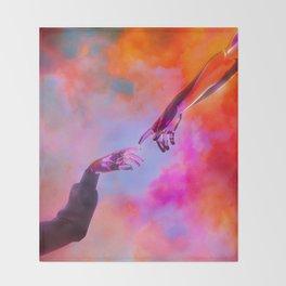 La Création d'Adam - Dorian Legret x AEFORIA Throw Blanket