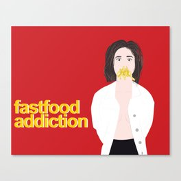 fastfood lover Canvas Print