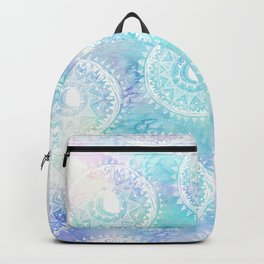 Watercolor Moon Mandala Backpack