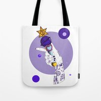 saturn Tote Bags featuring Saturn by scoobtoobins