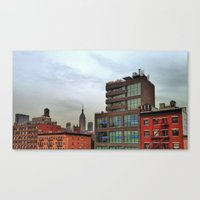 broadway Canvas Prints featuring Broadway by JM Pilkington