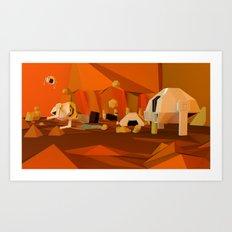 Mars Base Art Print