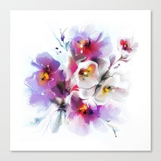 Gentle bouquet of flowers Canvas Print