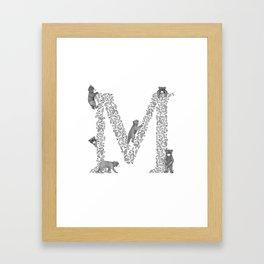 Bearfabet Letter M Framed Art Print