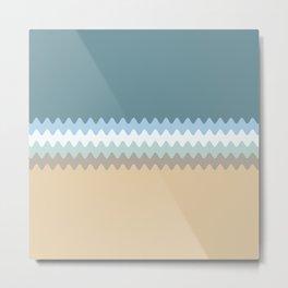 Beach Color Combo Metal Print