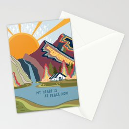 My heart is at peace now Stationery Cards