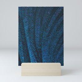 Dragonfly shiny vibrant blue wings Mini Art Print