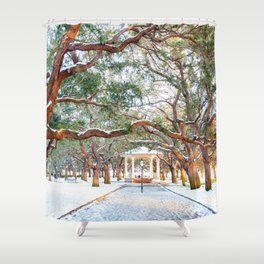 Snow White Point Gardens Shower Curtain