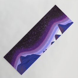 Mountains in Space Yoga Mat