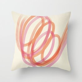 Valentine  #3 - Abstract Art Print Throw Pillow