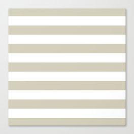 Beach Sand and White Stripes Canvas Print