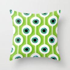 Eye Pod Green Throw Pillow