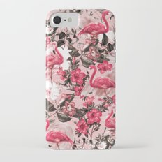 Floral and Flemingo III Pattern iPhone 7 Slim Case