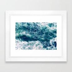 Sea foam Framed Art Print