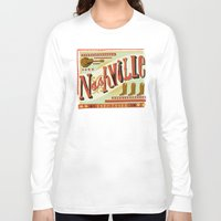 nashville Long Sleeve T-shirts featuring Nashville by Mary Kate McDevitt