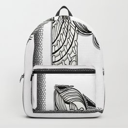 Zentangle M Monogram Alphabet Initials Backpack