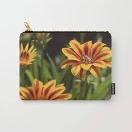 Beautiful Flower with Bee Carry-All Pouch