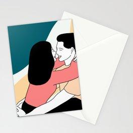 Couple hug Stationery Cards