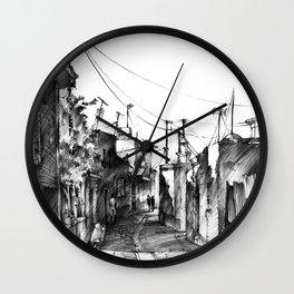 Rhodes backalley Wall Clock